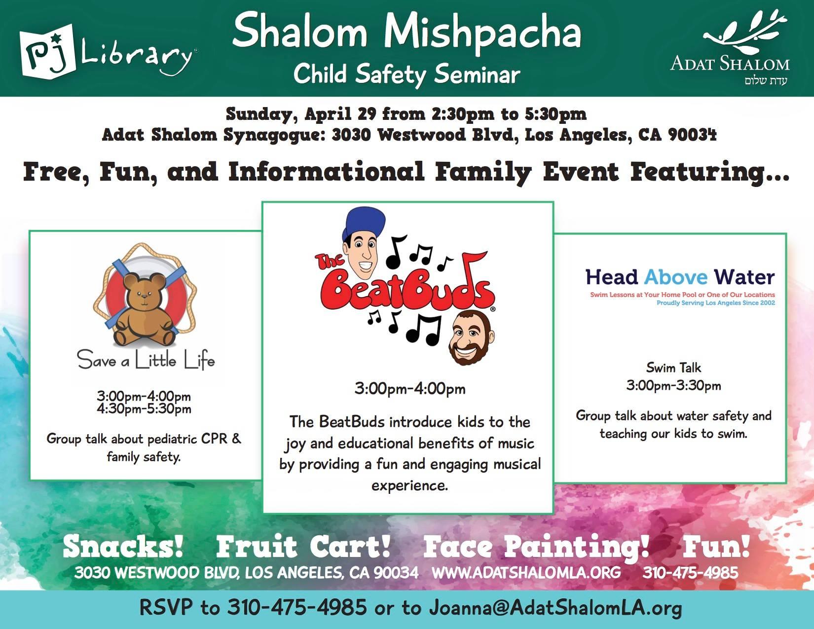 Shalom Misphacha Child Safety Seminar @ Adat Shalom Synagogue | Los Angeles | California | United States